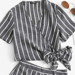 SHEIN Other - striped two piece